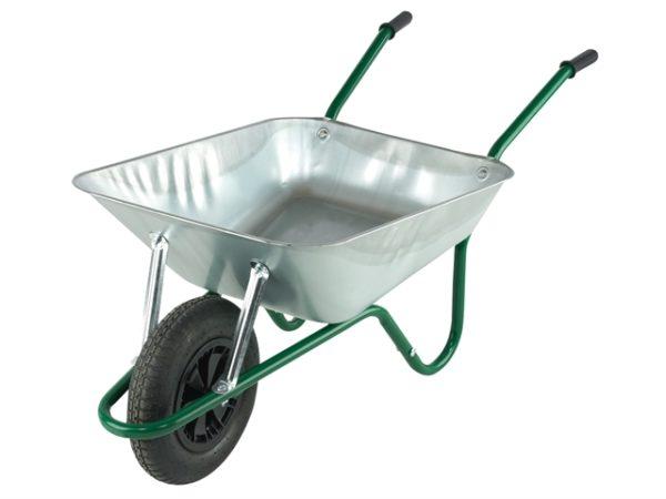 Boxed 85L Galvanised Easi-Load Builders Wheelbarrow