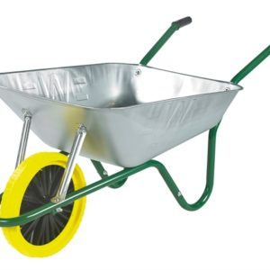 Boxed 85L Galvanised Easi-Load Builders Wheelbarrow - Puncture Proof