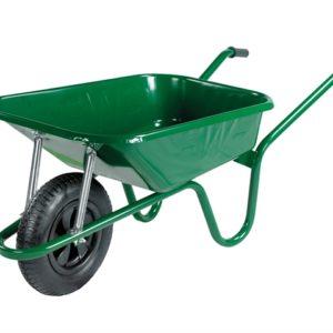 90L Green Builders Wheelbarrow