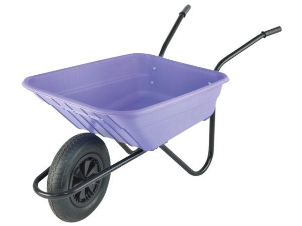 Boxed 90L Lilac Polypropylene Wheelbarrow