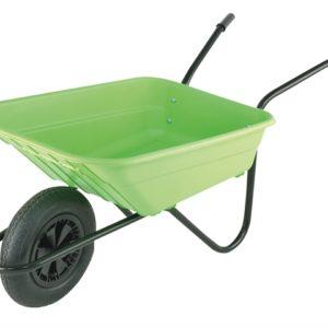 Boxed 90L Lime Polypropylene Wheelbarrow