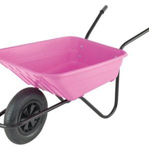 Boxed 90L Pink Polypropylene Wheelbarrow