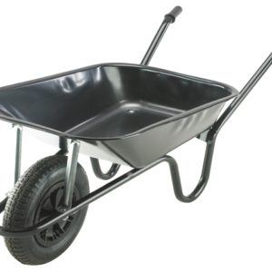 85L Black Contractor Heavy-Duty Builders Wheelbarrow