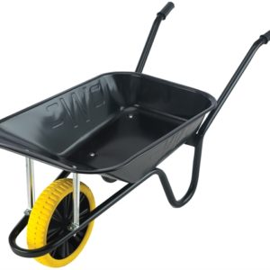 85L Contractor Black Heavy-Duty Builders Wheelbarrow - Puncture Proof