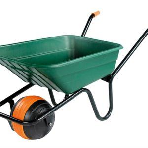 90L Green Polypropylene Wheelbarrow - Duraball