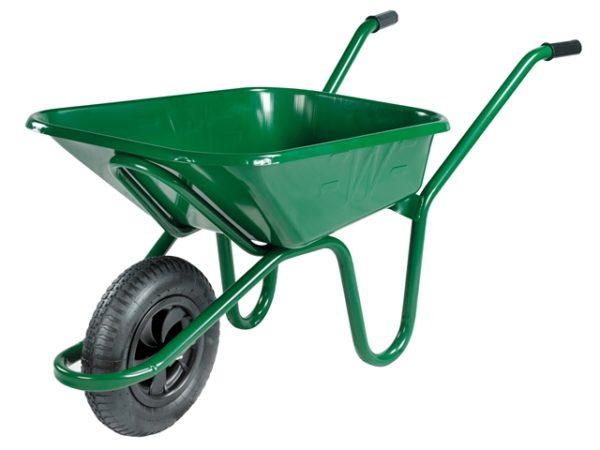 90L Green Heavy-Duty Endurance Wheelbarrow