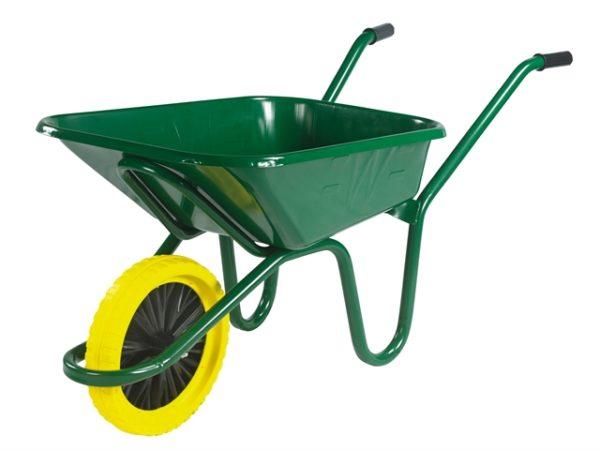 90L Green Heavy-Duty Endurance Wheelbarrow - Puncture Proof