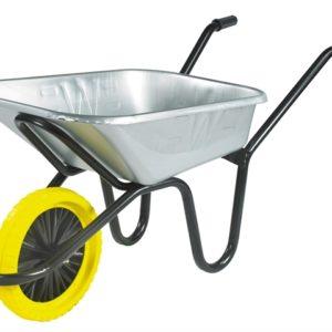 90L Galvanised Heavy-Duty Endurance Wheelbarrow - Puncture Proof