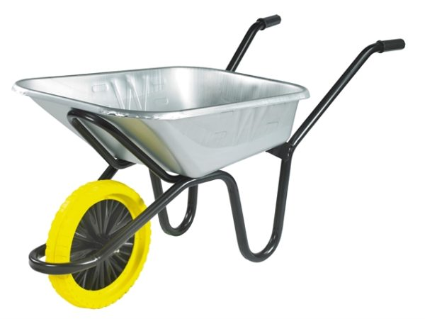 90L Galvanised Heavy-Duty Endurance Wheelbarrow - Puncture Proof