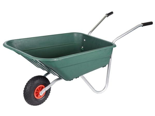 90L Green Polypropylene Rosemoor Garden Wheelbarrow
