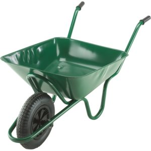 85L Green Integral Heavy-Duty Wheelbarrow