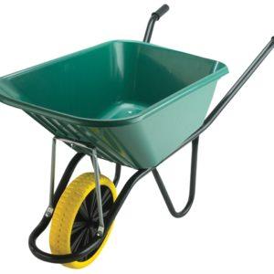 120L Green Monarch Polypropylene Wheelbarrow - Puncture Proof