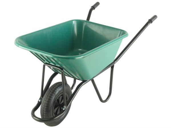 120L Green Monarch Polypropylene Wheelbarrow