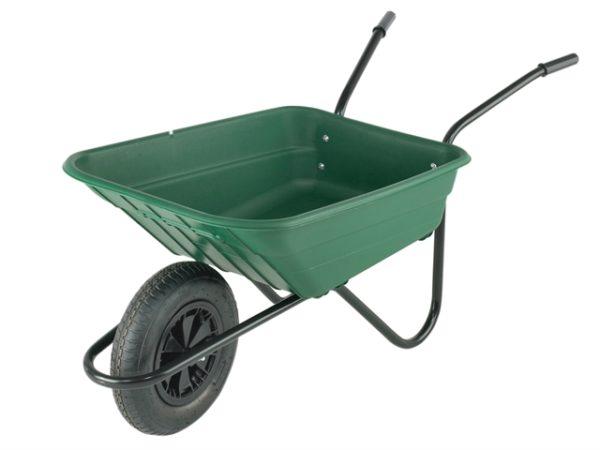 90L Green Polypropylene Wheelbarrow