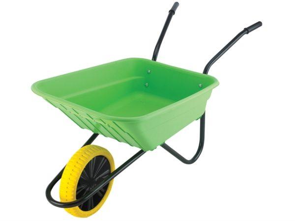 90L Lime Polypropylene Wheelbarrow - Puncture Proof