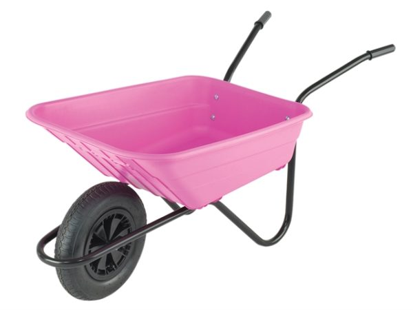 90L Pink Polypropylene Wheelbarrow