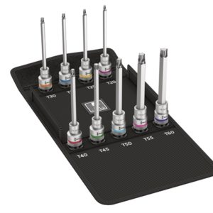 8767 C Torx HF Zyklop Socket Set of 9 Metric 1/2in Drive