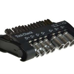 Tool-Check 1 SB Bit Check Ratchet/Socket Set of 39 1/4in Drive