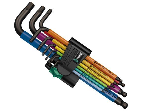 950/9 Hex-Plus BlackLaser 1 SB Multicolour L-Key Set of 9 Metric (1.5-10mm)