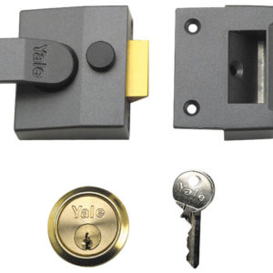 85 Deadlocking Nightlatch 40mm Backset Chrome Finish Box