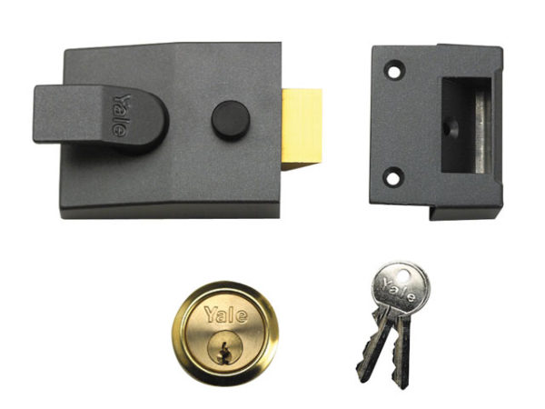 88 Standard Nightlatch 60mm Backset DMG Finish 60mm Backset Box