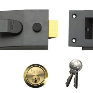 89 Deadlock Nightlatch 60mm Backset Chrome Finish Box