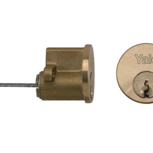 B1109 Replacement Rim Cylinder & 2 Keys Satin Chrome Finish Box
