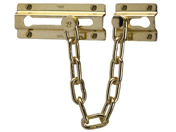 P1037 Door Chain Brass Finish