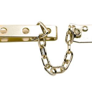 P1040 High Security Door Chain Brass Finish
