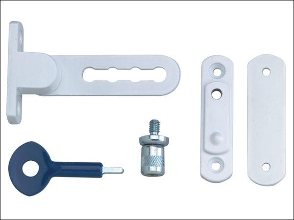 P117 Ventilation Window Lock White Finish Pack of 1