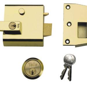 P1 Double Security Nightlatch 60mm Backset Chrome Finish Visi