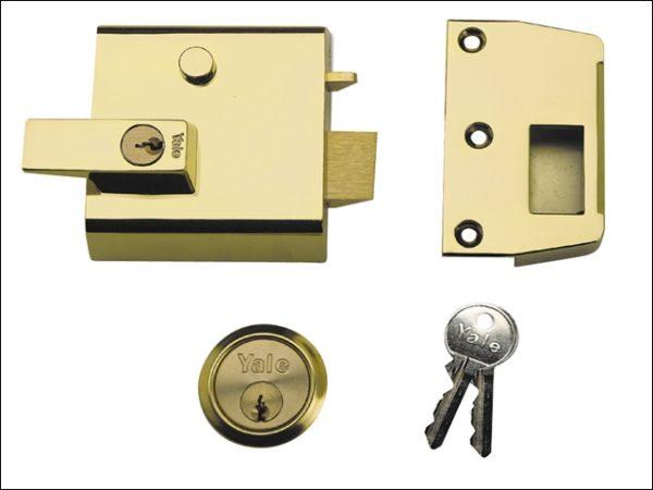 P1 Double Security Nightlatch 60mm Backset DMG Dark Grey Finish Visi