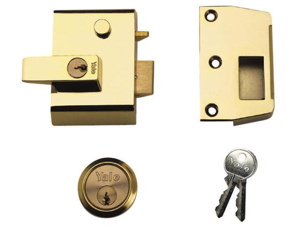 P2 Double Security Nightlatch 40mm Backset Chrome Finish Visi