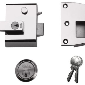 P2 Double Security Nightlatch 40mm Backset DMG/PB Finish Visi