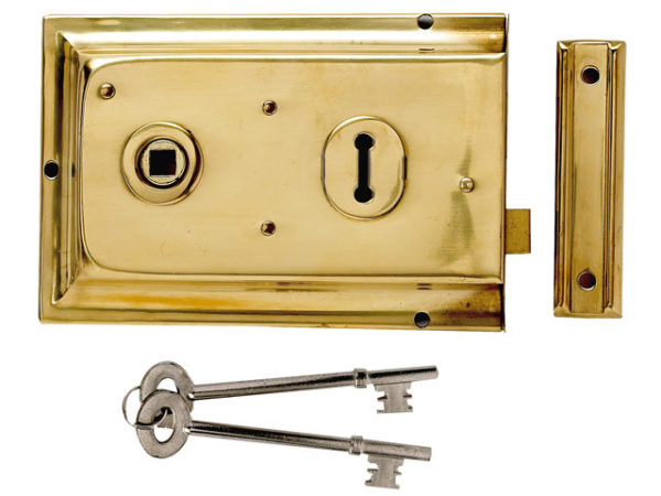 P334 Rim Lock Chrome Finish 156 x 104mm Visi
