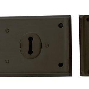 P402 Rim Lock Black Finish 102 x 76mm Visi