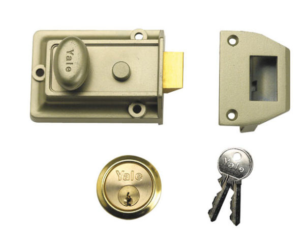 P77 Traditional Nightlatch 60mm Backset Chrome Finish Visi