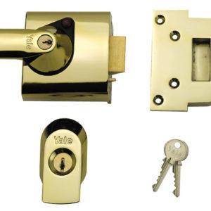 BS1 Nightlatch British Standard Lock 60mm Backset Chrome Finish Visi