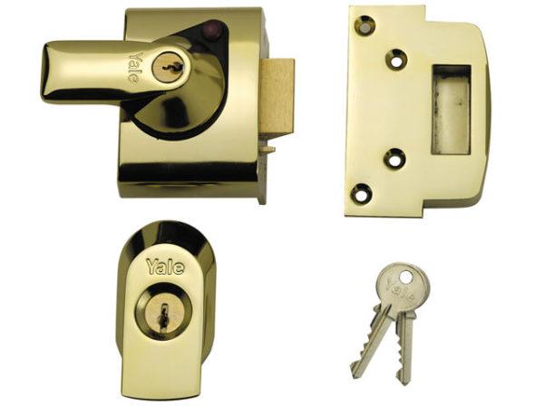 BS2 Nightlatch British Standard Lock 40mm Backset Chrome Finish Visi