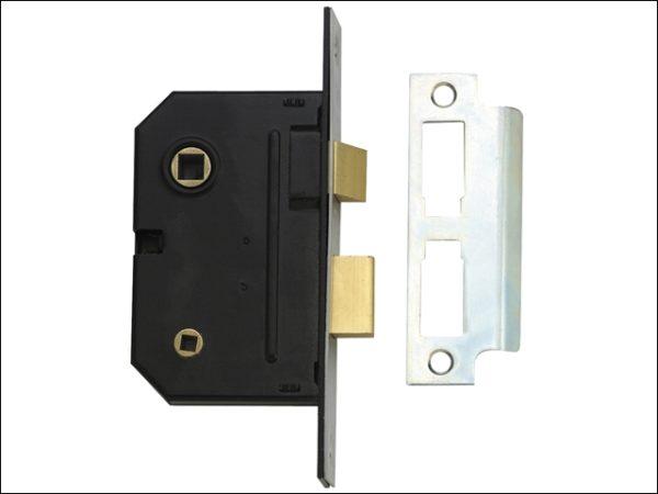 PM236 Bathroom 2 Lever Sashlock Polished Brass 67mm 2.5in