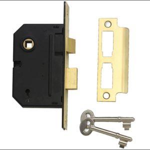 PM246 Internal 2 Lever Mortice Sashlock Polished Brass 67mm 2.5in
