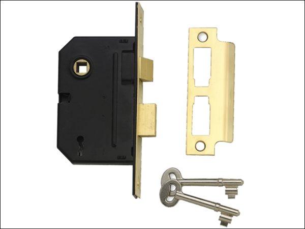 PM246 Internal 2 Lever Mortice Sashlock Polished Brass 80mm 3in