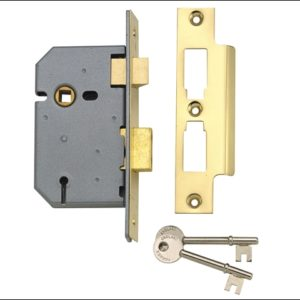 PM320 3 Lever Mortice Sashlock Polished Brass 65mm 2.5in