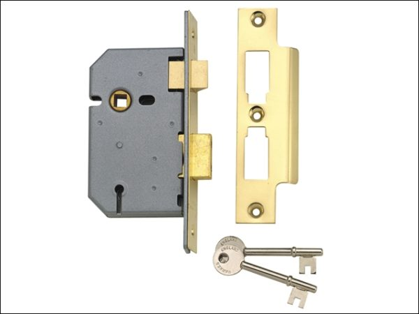 PM320 3 Lever Mortice Sashlock Polished Brass 65mm 2.5in
