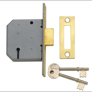 PM322 3 Lever Mortice Deadlock Polished Chrome 65mm 2.5in