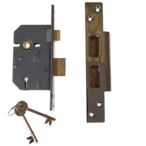 PM560 Hi-Security BS 5 Lever Mortice Sashlock Polished Chrome 81mm 3in