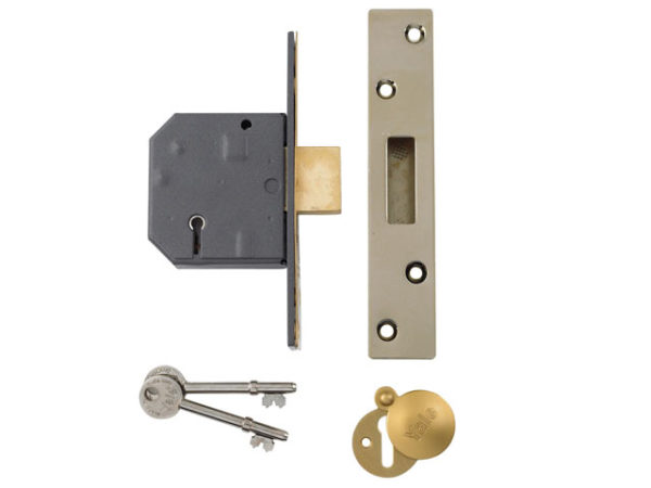 PM562 Hi-Security BS 5 Lever Mortice Deadlock 81mm 3in Polished Brass