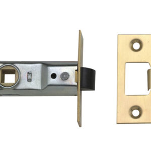 M888 Tubular Mortice Latch 64mm 2.5 in Polished Brass Pack of 3