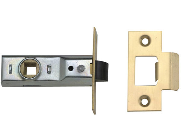 M888 Tubular Mortice Latch 76mm 3in Polished Brass Pack of 1