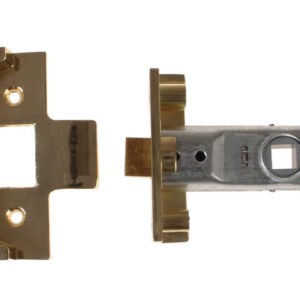 M999 Rebate Tubular Latch 64mm 2.5 in Polished Brass Finish